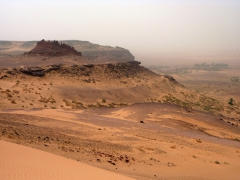 Remains of another ksar in the distance; near Tindjillet