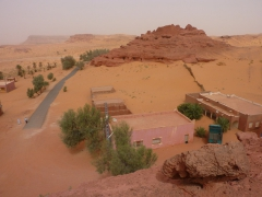 The road ends suddenly; Ksar of Ighzer
