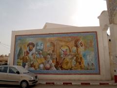 Large wall mural in El Oued