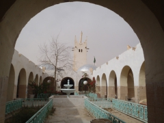 Courtyard view of El Oued's Tourism office