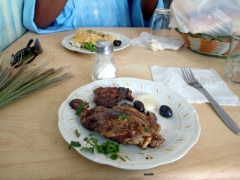 Grilled lamb chops for lunch; El Oued