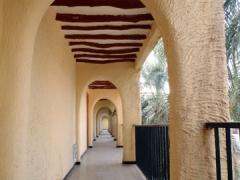 Hallway at Du Souf hotel; El Oued