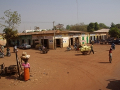 Typical road side village view