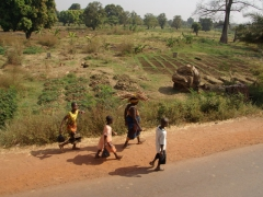 Locals walking in the midday heat