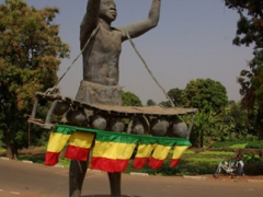 Burkina Faso road side monument