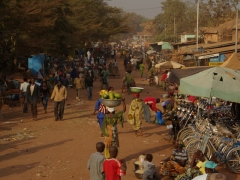Early morning hours of Banfora's market area