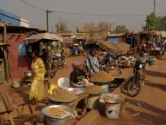 Assorted nuts for sale; Banfora market