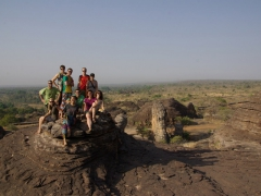 Robby, MJ, Goodie, Lars, Becky, Dowelly, Matt, Marie, Bree and Katherine at the Domes de Fabedougou