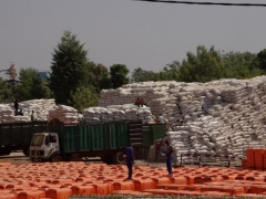 Rice sacks galore; Bobo-Dioulasso