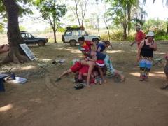Christmas day dogpile; Karfiguela campsite