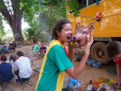 Becky prepares to devour Jemimah