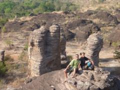 Posing at the Domes de Fabedougou