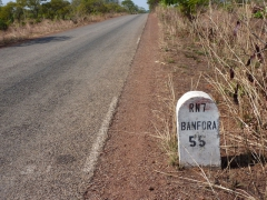 Mile marker for Banfora