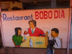 We enjoyed our bargain priced lunches at Restaurant Bobo Dia in Bobo-Dioulasso