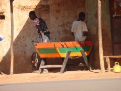 A youth wears an Obama shirt in Bobo-Dioulasso
