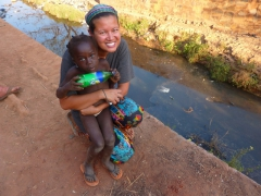 Becky and the girl who won her heart; old village of Kibidoue in Bobo
