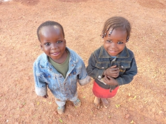 Cute kids in Bobo are camera crazy!
