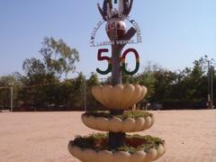 Another Burkina Faso 50 year anniversary sign; Bobo