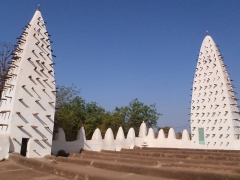 The twin towers of Bobo's Grand Mosque (Vieille Mosquee)