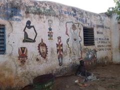 Burkina Faso artwork for sale in the village of Kibidoue