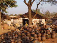 The Marche de Poterie is two blocks north of the Vieille Mosque in Bobo-Dioulasso where earthenware vessels can be bought at reasonable prices