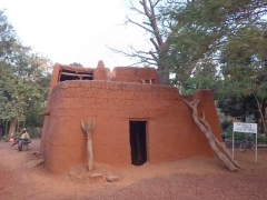 A replica Bobo house on display at the Musee Provincial du Houet