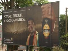 Ghana Guinness signpost; Kumasi