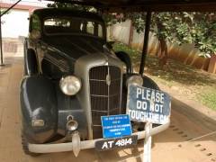The first official car of Asante King Prempeh II, circa 1935; Prempeh II Jubilee Museum
