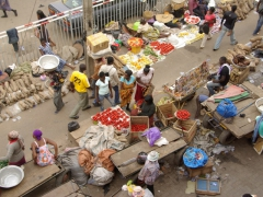 Vendors galore at the wonderfully colorful Kumasi market