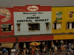 Signpost for Kumasi's central market