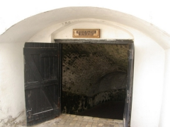 Doorway to the male slave dungeons; Cape Coast Castle