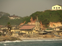 Coastline view of Cape Coast