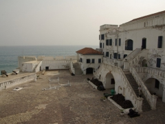 Main courtyard of Cape Coast Castle