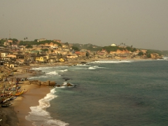 Cape Coast beachfront view