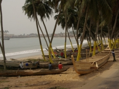 Coastal view near Elmina Fort