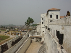 "Elmina Castle (aka ""Castle of St George"") served as the Portuguese headquarters in West Africa for over 150 years until it was captured by soldiers of the Dutch West Indies Company in 1637"