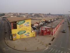 View of Asafo market in Kumasi