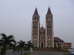 Kumasi cathedral commanding an imposing view over the Asante city