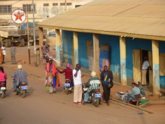 Colorful Ghanaian street scene