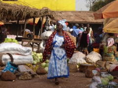 Village woman at the Tamale market