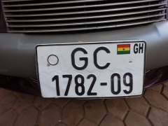 Ghanaian license plate