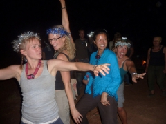 Ruth, MJ, Becky, and Nancy dancing the night away
