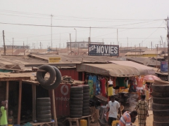 USA movie signpost; enroute to Ghana's coast