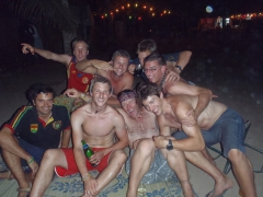 Group pic of the boys during our Accra farewell party