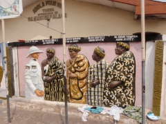Interesting wall mural in Accra