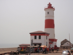 Close up view of Accra's lighthouse