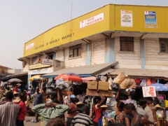 View of Accra's chaotic Makola Market