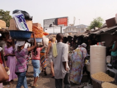 Walking through Makola market is a sensory overloaded experience