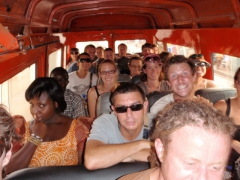 How many overlanders can you fit into a tro-tro? There are 18 of us crammed in here