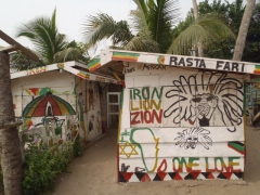 Rasta Fari beach shack shop; Kokrobite Beach
